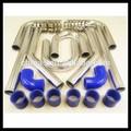 """In alluminio universale turbo intercooler 135 gradi od: 63 millimetri 2,57"""" lunghezza 600 mm turbo intercooler per auto da corsa"""