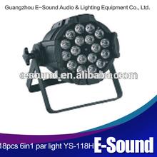 2014 High Quality Wholesale, DMX512 18X10W stage lighting,party 10w LED Par Cans light