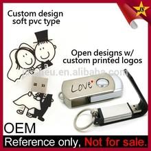 Cheap 1GB Custom Different Shape Wedding Gift USB Pen Drive