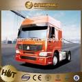Sino camion tracteur, la tête de camion 450hp, utilisé des moteurs de camion mercedes benz