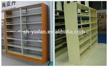 Modern library heavy duty cheap steel book shelf school furniture Library rack shelf steel book shelf for school use
