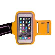 Sport running armband custom blu Neoprene cell phone case