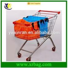 nylon cart foldable shopping bag for supermarket trolly