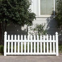 White Vinyl Outdoor Dog Fence