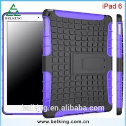 Dual PC+TPU hybrid stand case for ipad air 2 ipad 6