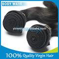 100% natural indian-primas cabelo, nenhum emaranhado nenhum derramamento natural da extensão do cabelo