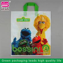 environmental protection wholesale shoe print shopping bags