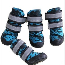 Waterproof suit autumn and winter high-top dog boots pet shoes