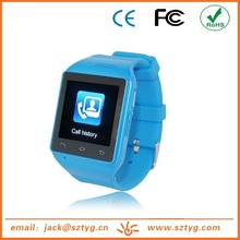 Hot New Products Watch Mobile Phone ,GSM Card slot,Touch Screen,MP3 Player,FM Radio,With Multiple Language QWERTY Keyboard