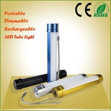 Portable dimmable usb rechargeable camping tube