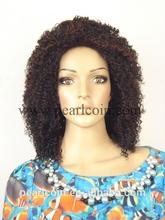 Afro Kinky Curl 100% Synthetic Kanekalon Toyokalon Japanese Fiber African-American Wig