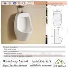 Wall hung urinal toilet bowl parts wall hanging closet