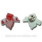 2014 antique custom plastic pins round badges with factory price