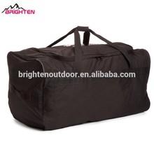 Large capactity heavy duty black men's custom duffle sports bags