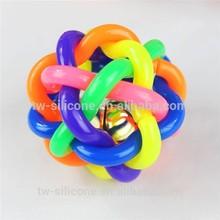 insert bell cheap dog ball rubber pet toy ball