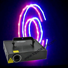 animated laser light show 2W RGB Animation laser for stage and night club
