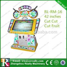 42 inches Cut Cut Cut Fruit redemption video game machines