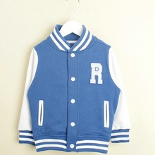 R&H breathable high quality snaps sweatshirt plus size winter clothes for kids