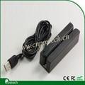 Usb msr100/ps2/rs232/ttl interface leitor de cartão magnético, 3 faixa de cabeça magnética
