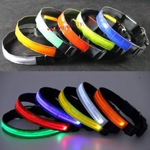 Hot Sale LED Dog Collar Night Safety Pet Flashing Light Adjustable Cat Collar