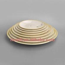Hewill custom 100% melamine cheap plastic printed dishes dinner plates