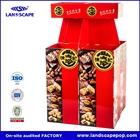 cardboard shop display shelf/cardboard merchandising display/rigid paper gift box