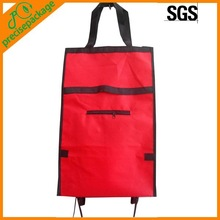 Promotional foldable 600D oxford trolley bag for shopping