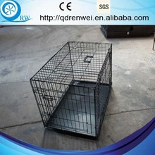Pet Folding Dog Cage Kennel w/ Tray Carrier