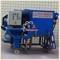 mobile in cemento pallinatura macchina