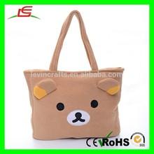 E147 Girl Cartoon Tote Shopping Bag
