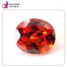 Good quality oval cut gemstone orange cubic zirconia cz general