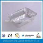 pollution free burger aluminum foil container
