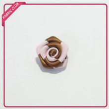 fashion decorative satin rose handmade ribbon flower for dress