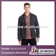 Fashion pocket men cardigan rib sweater