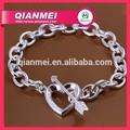 con estilo flecha de plata y pulsera del corazón en forma de corazón joyería de moda