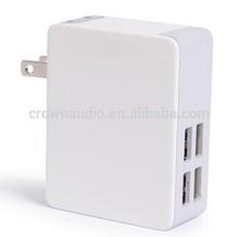 5V 5A 4 USB Charger with USA plug