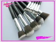 Personalized high end 10pcs kabuki brush kit with container