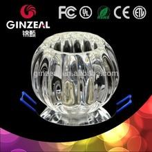 GINZEAL Z047P No Bulb G9 G4 Holder Crystal Glass 12v led ceiling dome light