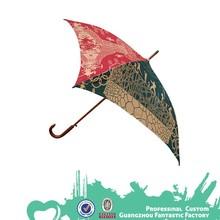 Umbrella factory promotion wood handle four panel customized square umbrella