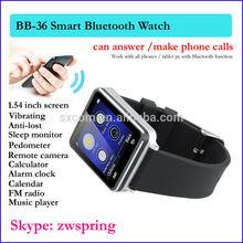 Smart Bluetooth Bracelet with 1.54 inch screen Sleep monitor Pedometer FM Radio Music player Bracelet