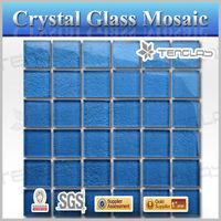 Hot sale pure blue 8mm floor tiles standard size mosaic