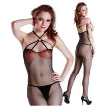 Halter Suspender Fishnet Bodystockings Lady Lingerie