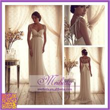 New Design Sexy Bridal Wedding Dress Beading Bride Gown Roupas Femininas Fiesta Dress