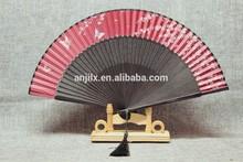 promotional short tail hand fan bamboo fan customized