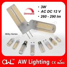 LED finger lights AC DC12V dimmable 3W G4 LED bay light