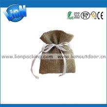 Customized Cheapest jute burlap favor bag