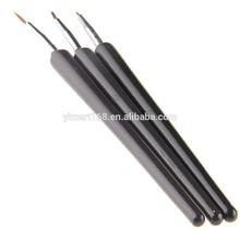 Yimart 3Pcs Tiny Nail Art Pen Brush Painting Dot Tools Polish Detailer Liner Brush Set