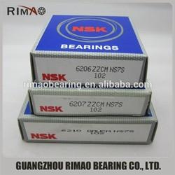 6200 series ball bearing 6210zz 6210DDU NSK deep groove ball bearing