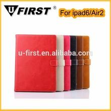 High quality PU leather Case For Ipad Air 2 with Sleep Wake