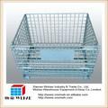 pallet pieghevole pieghevole in ferro con serratura fili alla rinfusa casse maglia di acciaio di stoccaggio e container